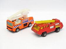 Matchbox 1/64 Lote de 2 : Blaze Buster y Tubo respirador Snorkel Bomberos Fire