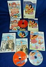 Lot of 4 Wii;Cooking Mama Cook Off,Purr Pals,Cake Mania,Discs LN,Dora-Crystal Kg
