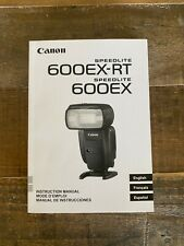 New listing Canon Speedlite 600Ex-Rt 600 Ex Instruction Manual User's Guide - New!