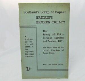 1945 SCOTTISH PROPAGANDA Treaty of the Union SCOTTISH SECRETARIAT