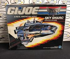 GI JOE SKY PATROL SHARC ATTACK PLANE W/ FIGURE & BOX 1989 OPEN BOX