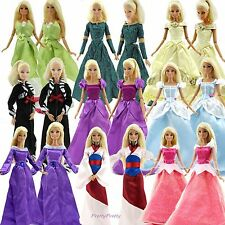 Handmade Fairy Princess Party Clothes Wedding Gown Dress For 11.5 inch Girl Doll