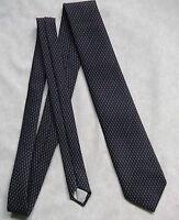 Vintage Tie MENS Necktie Retro 1980s JACQUES MONET NAVY BLUE DARK RED