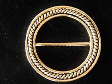 Nwt Womens Round Rope Scarf Ring, Holder, Clip, Polished Silver Or Gold