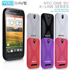 Accessories For The HTC One SV Soft Silicone Gel X-Line Phone Skin Case Cover UK