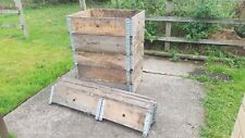 More details for  pallet collars job lot 10x 80x60cm used pallet collars, raised beds, 101 uses!