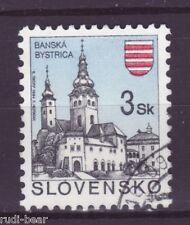 Slowakei Nr.  206  gest.  Städte Baňská Bystrica Neusohl Besztercebánya -3