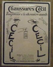 Publicité CECIL Chaussures 1921, advert