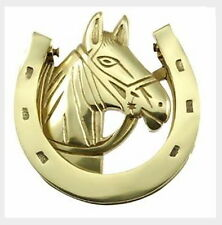 Horse Lover's Gift: Natural Solid Brass Door Knocker from Rousso's Reproductions