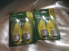20  x everbrite  60W ES Candle CLEAR 35mm standard light bulb lamp 60 Watt E27