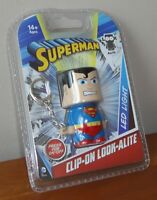 Joblot 10x Groovy DC Comic Superman Clip-On Look-Alite LED Keyring/Chain Torch