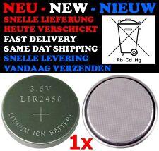 1x LIR-2450 Batterij Oplaadbaar Accu Oplaadbare Knoopcel Thermostaat Verwarming