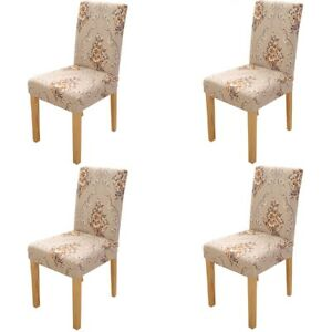 4Pcs Decor Stretch Dining Chair Covers Removable Slipcovers Washable Banquet