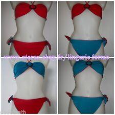 maillot de bain bandeau grande taille 36 48 réversible bikini piscine neuf