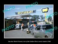 OLD 8x6 HISTORIC PHOTO OF BACCHUS MARSH VIC GOLDEN FLEECE SERVICE STATION 1968