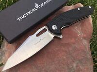TacticalGearz Hex, EDC Folding Knife, G10, D2 Steel Blade, Ball Bearing!