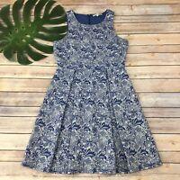 41 Hawthorn Stitch Fix Jace Embroidered Lace Dress Size S Blue Cream Sleeveless