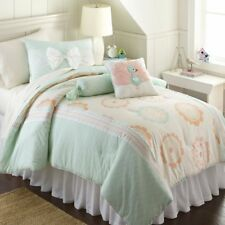 Frank And Lulu Holland Park Twin Size- 3 Piece Comforter Set/ Pillow Mint Girls