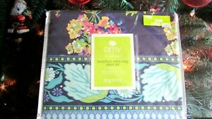 NEW $159 AMY BUTLER FOR WELSPUN TWIN/EXTRA LONG SHEET SET ORGANIC ''DREAM POPPY'