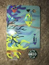 Fish In Blue Sea & coral Starbucks Mini Card UK Coffee. Mini Card out May 2018
