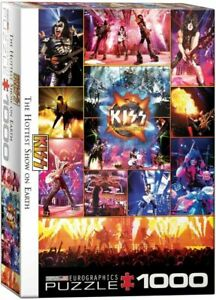 Eurographics Puzzle 1000 Piece jigsaw puzzle - KISS The Hottest Show on Earth