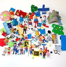 PLAYMOBIL Huge Parts / Pieces Lot 18 People- Broom Backpack Drum Plate Castle