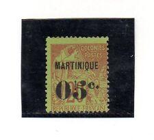 Ex Colonies Françaises Martinique Valeur De Année 1888-91 (CY-553)