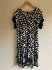 Verge Silk Black And White Patterned Sheer Dress Size 12 Made In New Zealand