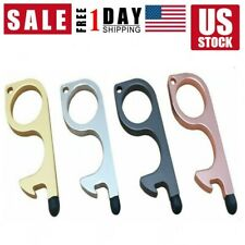 4 Pcs/Set Clean Key Door Opener Handheld Brass EDC Keychain No Touch Hand Tool