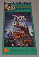 1998 Disney MGM Studios Guide MAP Tower of Terror BACKLOT TOUR Goosebumps Show