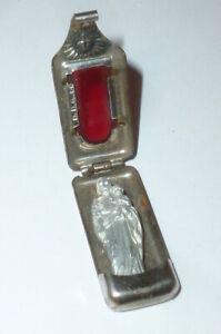 Vieux Religieux Miniature Icône de Voyage Madone Chapelet Kruzifx Marie Jésus