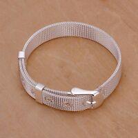 Bettelarmband Gürtel Armband Gürtelarmband Silber Farben versilbert Art 925 - 7