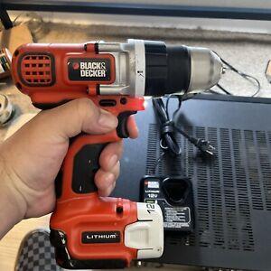 Black & Decker LDX112 12-Volt Lithium-Ion Power Drill Driver Battery & Charger