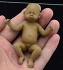 Full Body solid Platinum Resin reborn baby doll miniature, newborn Female 8.4CM