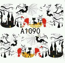 Halloween Nail Wraps water decals Opaque Nail wraps Halloween Nail wraps webs