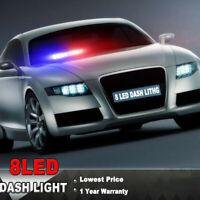 Lampeggiatore d'emergenza con luce lampeggiante stroboscopica per polizia 8LED