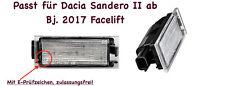 2x TOP LED SMD Kennzeichenbeleuchtung Dacia Sandero II ab 2017 Facelift (N06)
