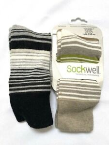 Lot 2 Sockwell Womens Theraoeutic Performance Relaxed FIt/Diabetic Friendly