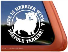 Life is Merrier with a Norfolk Terrier | High Quality Dog Window Decal Sticker