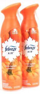 2 Febreze 8.8oz Limited Edition 100% Natural Fresh Harvest Pumpkin Air Refresher