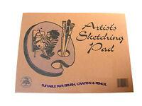 A4 ARTISTS PAPER SKETCH / SKETCHING / DRAWING PAD - BRUSH, CRAYON & PENCIL - NEW