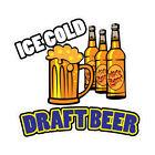 Ice Cold Draft Beer Concession Restaurant Food Truck Die-Cut Vinyl Sticker