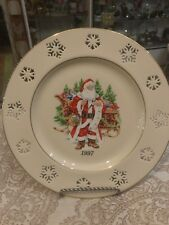 "Lenox Annual Holiday Collectors Plate 1997 ""Santas List� 10 1/2�"