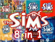 The Sims 1 original Complete Collection /w 7 expansions on 4 CDs PC Win7 tested