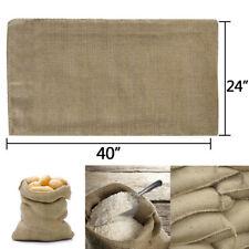 10 Bags Heavy Duty 24x40 Burlap Bags Sacks Potato Sack Sandbags Gunny Race Bag