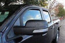 Matte Black Window deflectors In-Channel For 2019-2020 Dodge Ram 1500 Quad Cab
