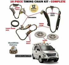 FOR HYUNDAI iLOAD 2.5 DT CRDI  D4CB 2009->on TIMING CHAIN KIT 16 PIECE COMPLETE