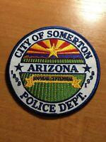 VINTAGE PATCH POLICE CITY OF SOMERTON ARIZONA AZ