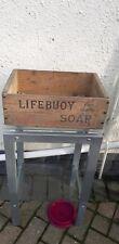 Vintage Lifebuoy soap packing case wood display prop tv period cafe shop kitchen