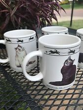 4 Houston Harvest Tabby Abyssinian Turkish Chartreux Cat Lovers Ceramic Mugs